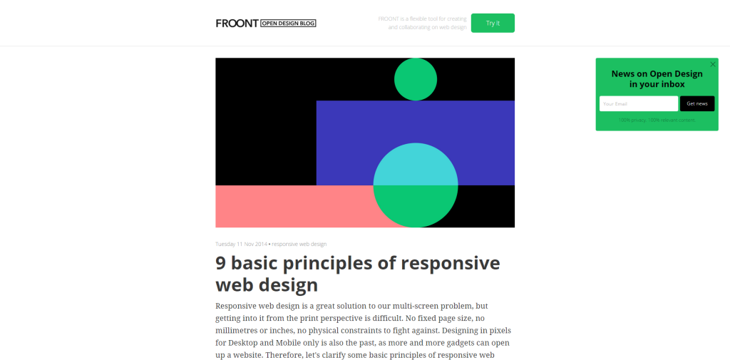 9 Basics principle of responsive design