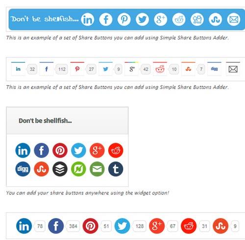 boutons de partage