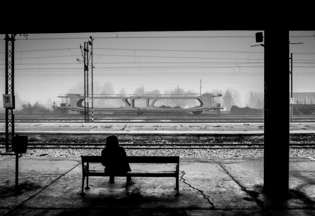 attendre le train