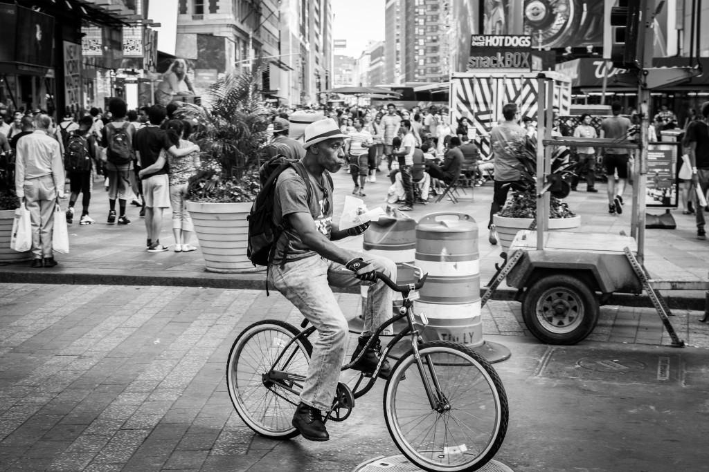 Vélo dans Times Square