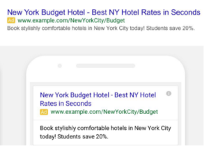 Google extended text ads