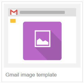 Gmail image template