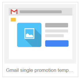 Gmail single promotion template