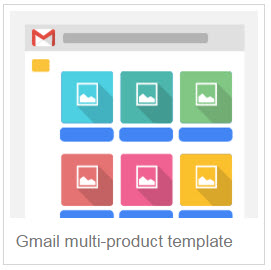 Gmail multi-product template