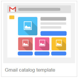 Gmail catalog template