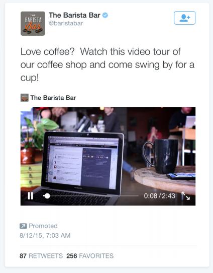 exemple pub Twitter