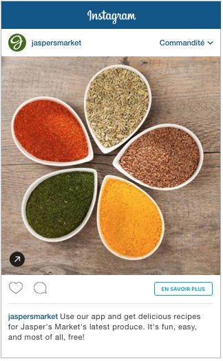 Exemple pub Instagram