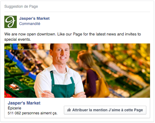 exemple pub Facebook acquisition