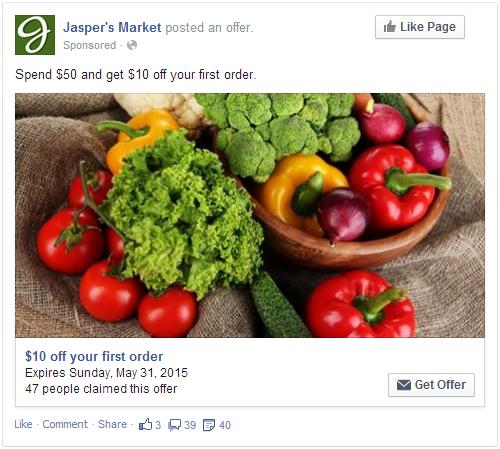 Exemple pub Facebook demande d'offre