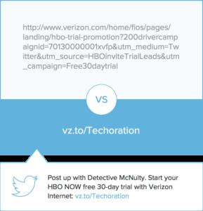 Exemple de short URL sur Bitly