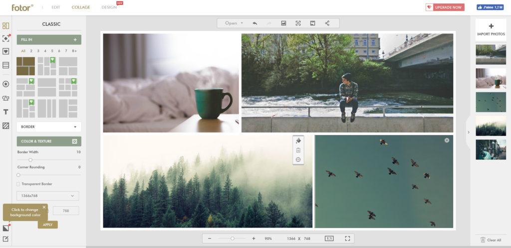 Screenshot de Fotor