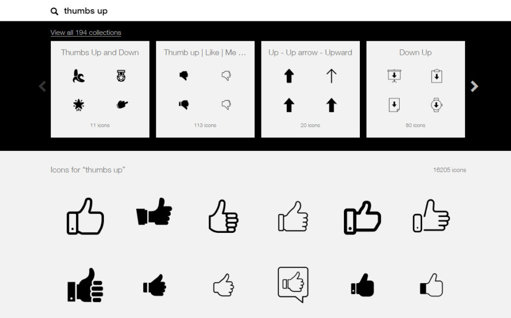 Screenshot de The Noun Project