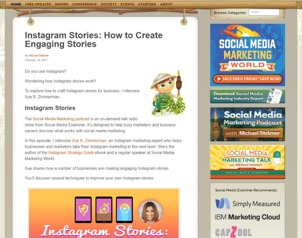 Screenshot Social Media Examiner