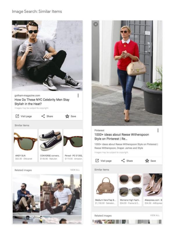 Exemple d'articles similaires sur Google Images