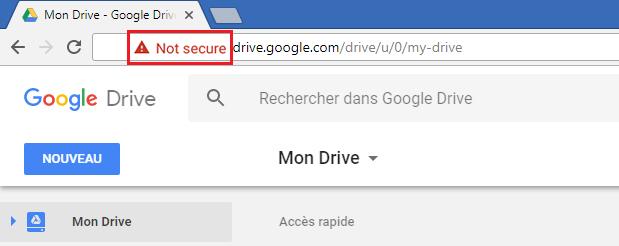 Exemple de site web http non sécurisé