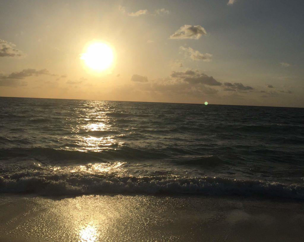 Coucher de soleil sur une plage de la Floride